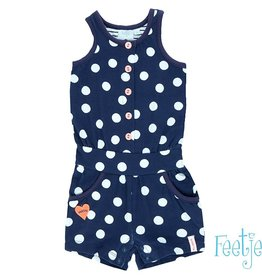 Feetje Playsuit 'easy' navy dots