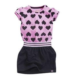 Z8 Jurk 'Lux' Lollypop pink hearts