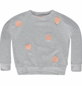 Tumble 'n Dry Sweater 'Danyelle' grey hearts