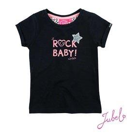 Jubel T-shirt 'Rock baby' ethnic zwart