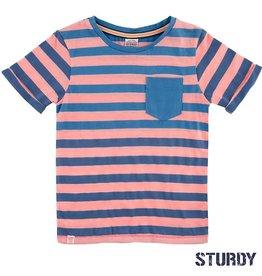 Sturdy T-shirt 'Festival' gestreept indigo