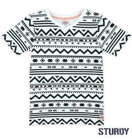 Sturdy T-shirt 'Festival' ethnic white