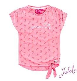 Jubel T-shirt 'Palmtrees Exotic' pink