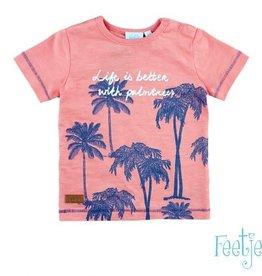 Feetje T shirt Palmtrees Mini Island pink