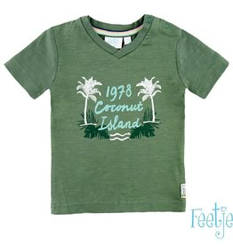 Feetje T-shirt mini 'Island' green
