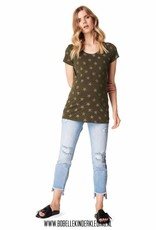 Supermom T-shirt 'Star' army green