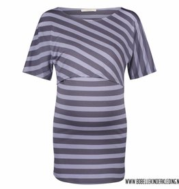 Supermom Voedingsshirt 'Alice' blue striped