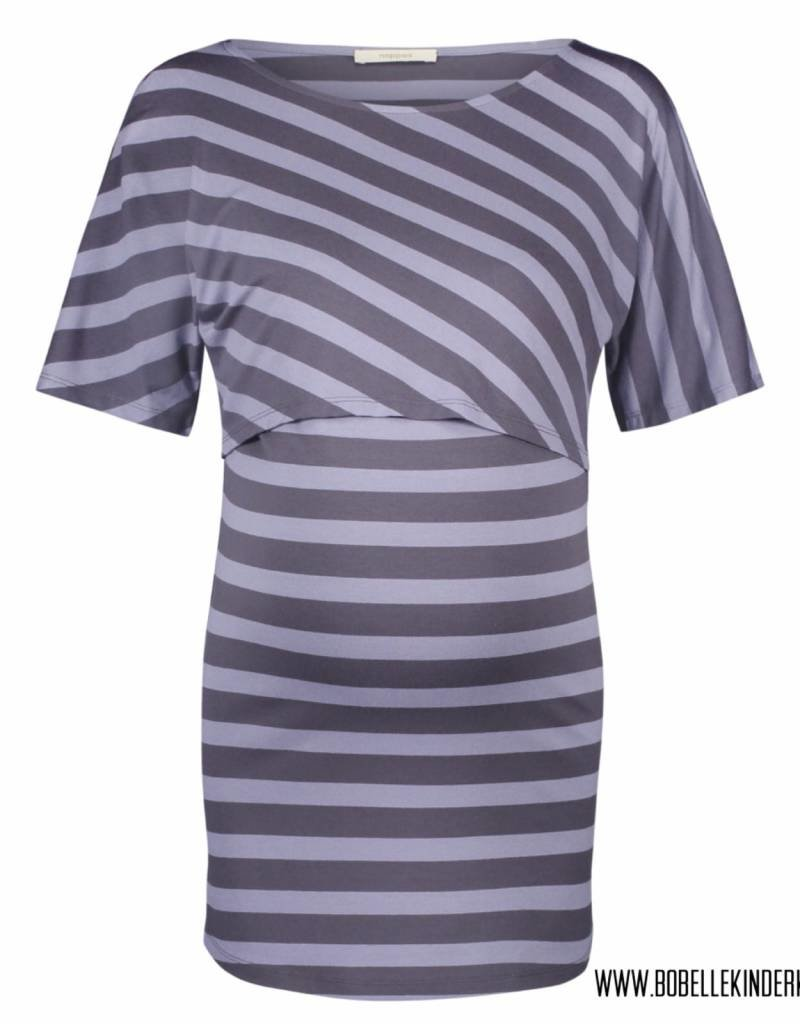 Supermom Supermom Voedingsshirt 'Alice' blue striped
