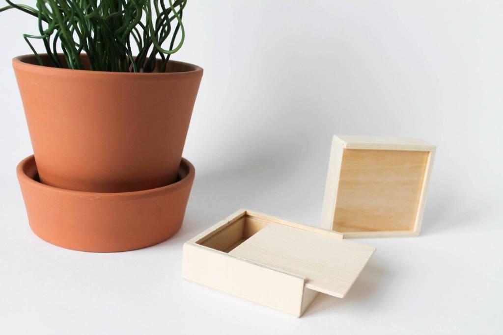 Schuifdoosje houten deksel