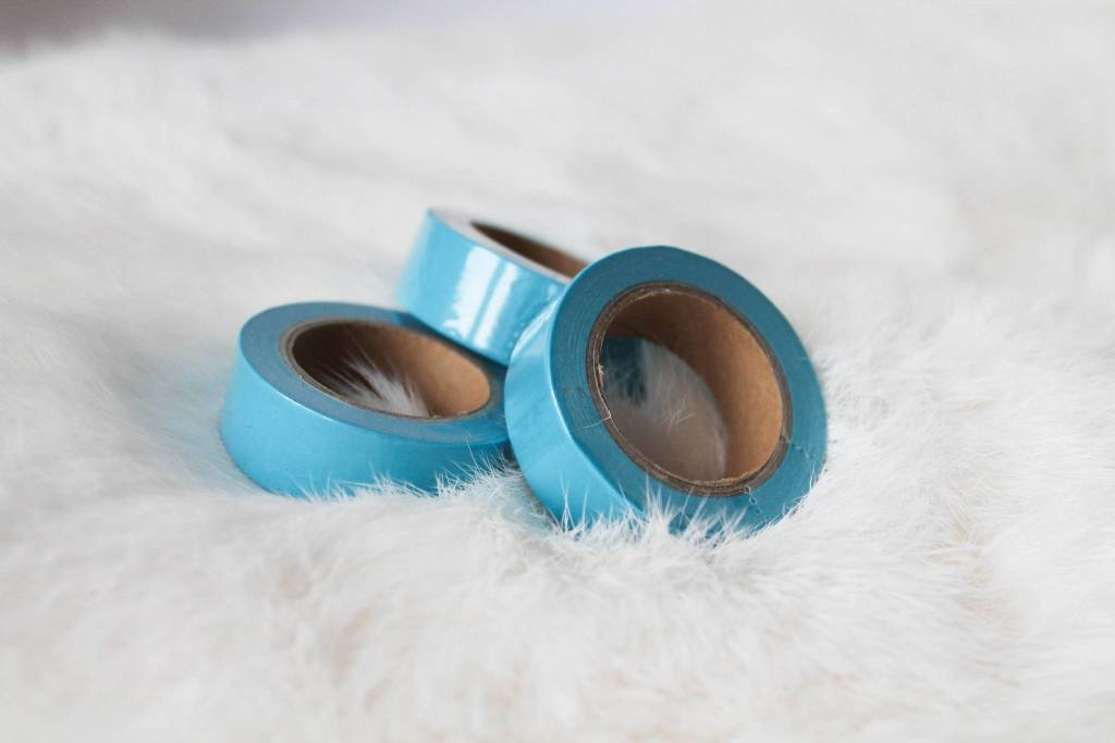 Washi azuurblauw