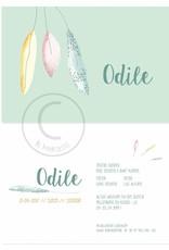 Geboortekaartje Odile