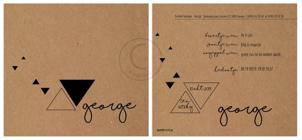 Geboortekaartje George