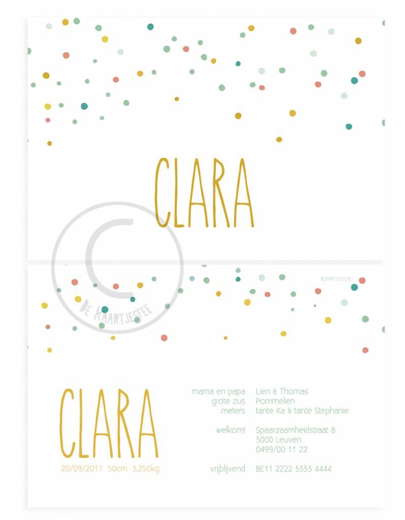 Geboortekaartje Clara