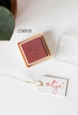 Inktpad leembruin - 157