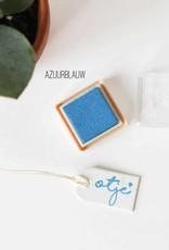 Inktpad azuurblauw