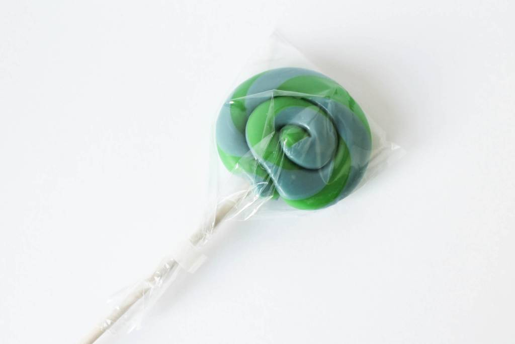 Lollie twist groen-blauw