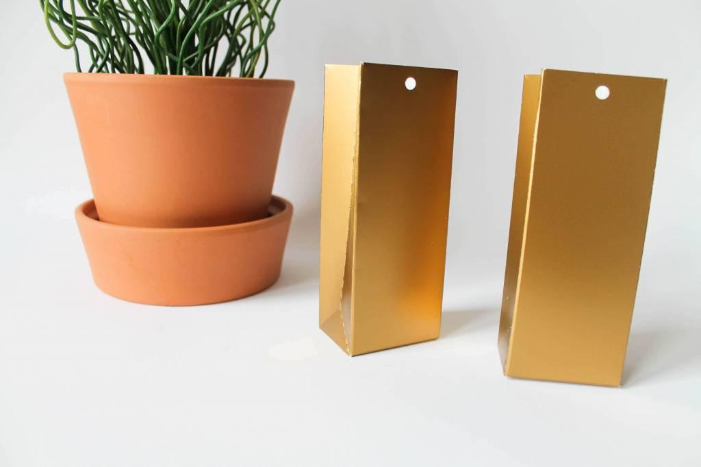Hoog doosje goud - blinkend