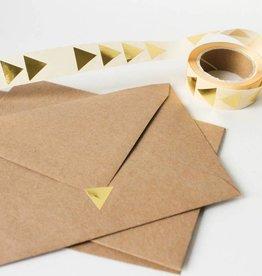 Sluitsticker driehoek • Goud
