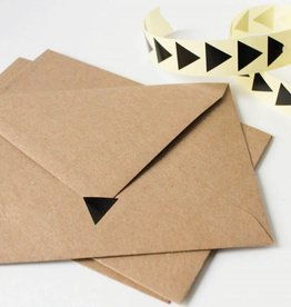Sluitsticker driehoek • Zwart