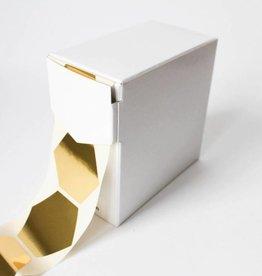 Grote sticker zeshoek • Goud