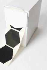 Sticker zeshoek zwart • per 10 stuks