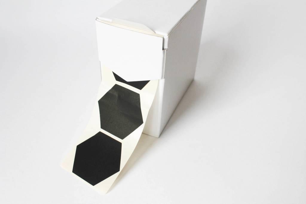 Grote sticker zeshoek • Zwart