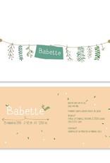 Geboortekaartje Babette