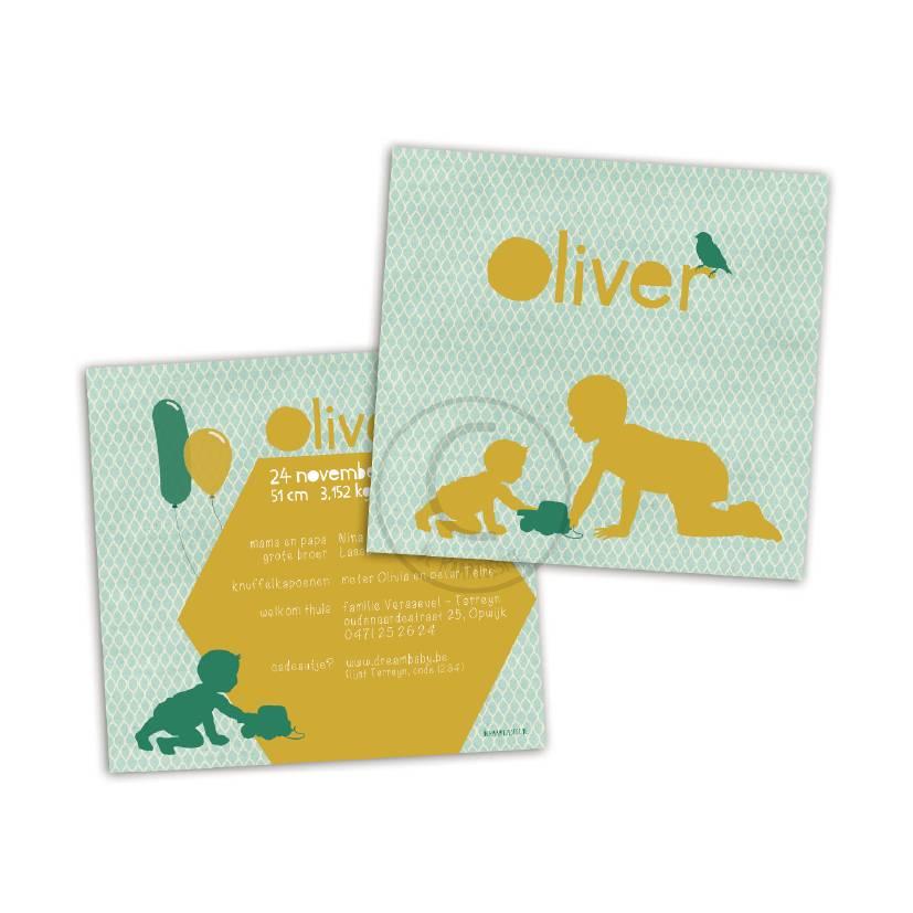 Geboortekaartje Oliver