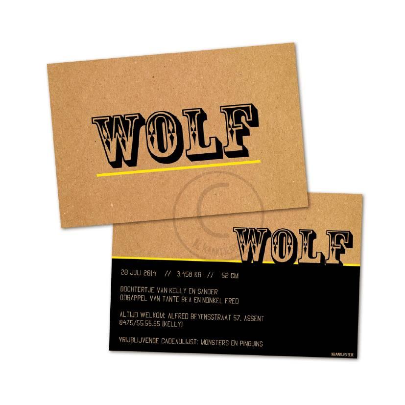 Geboortekaartje Wolf