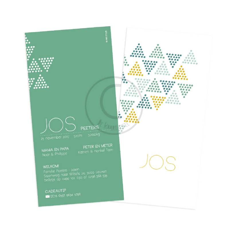 Geboortekaartje Jos