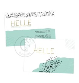 Geboortekaartje Helle