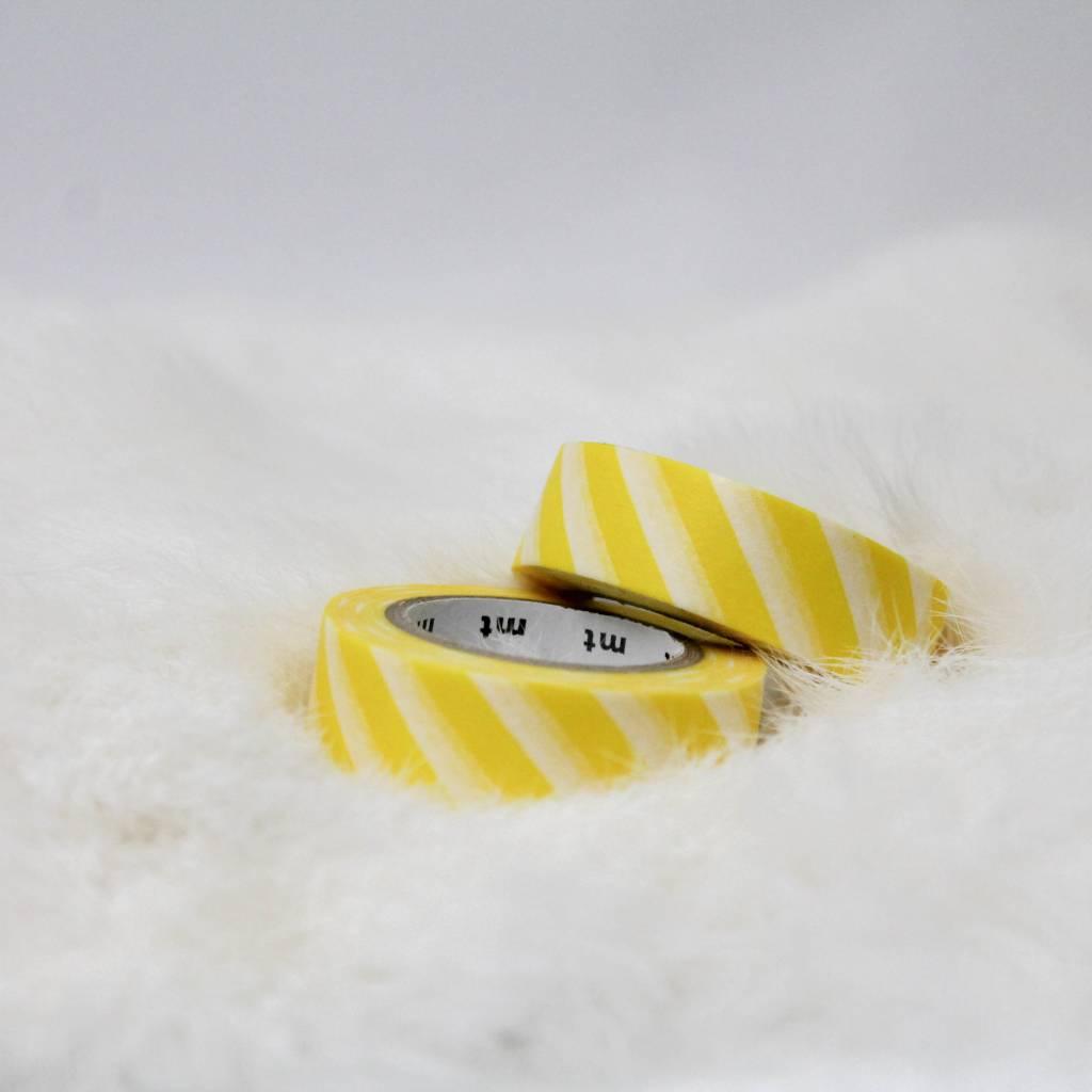 Washi geel gestreept