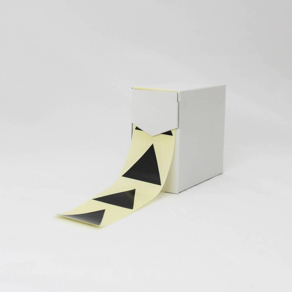 Grote sticker driehoek • Zwart
