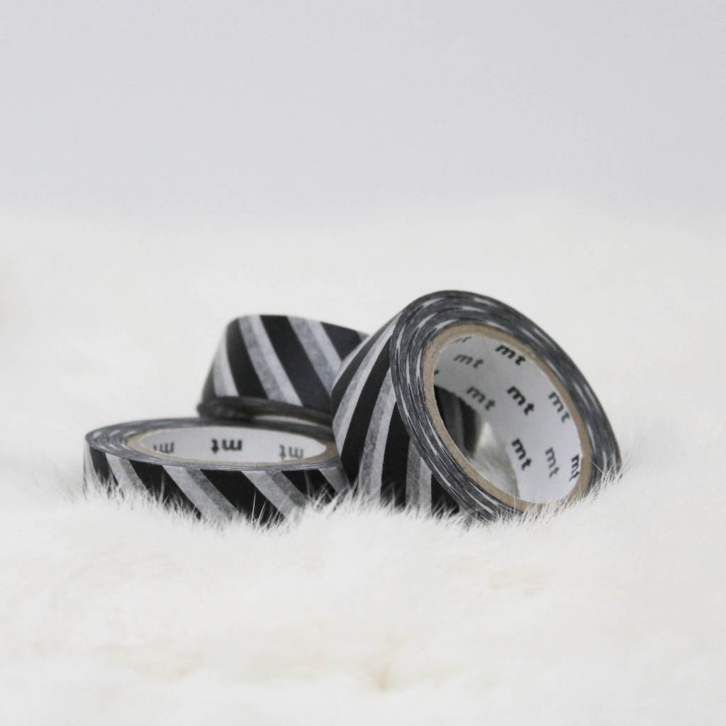 Washi zwart brede streep