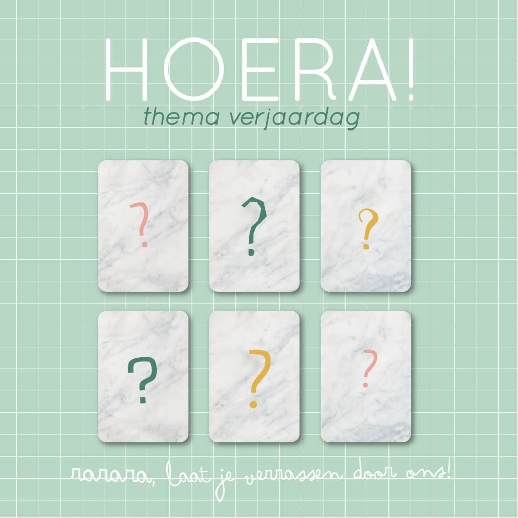 Pakket Hoera - thema verjaardag