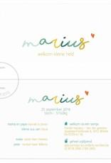 Geboortekaartje Marius
