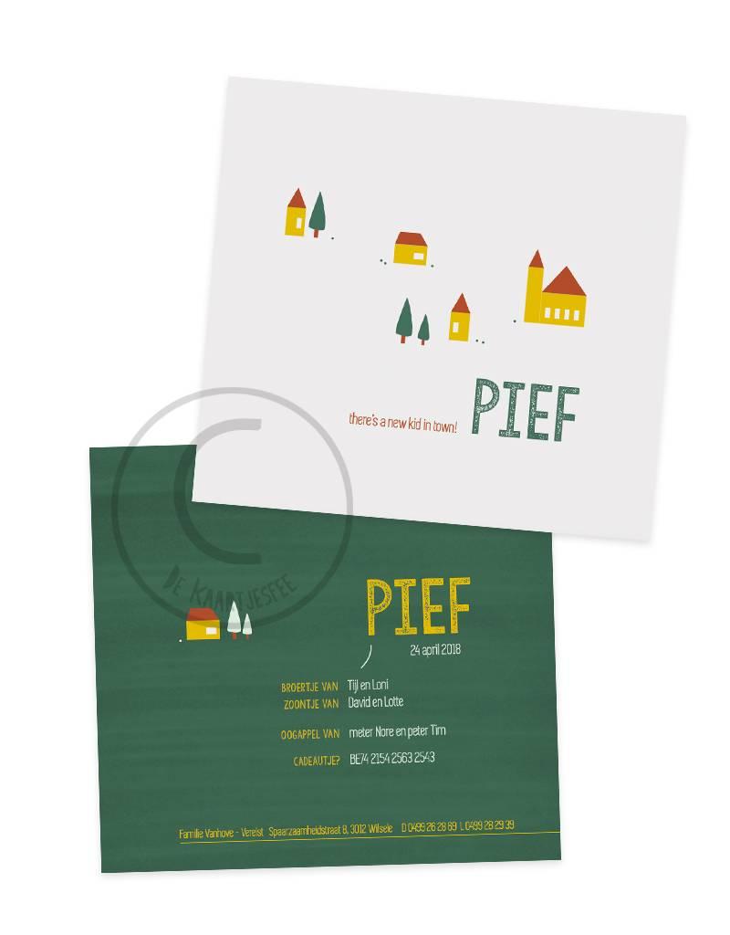 Geboortekaartje Pief