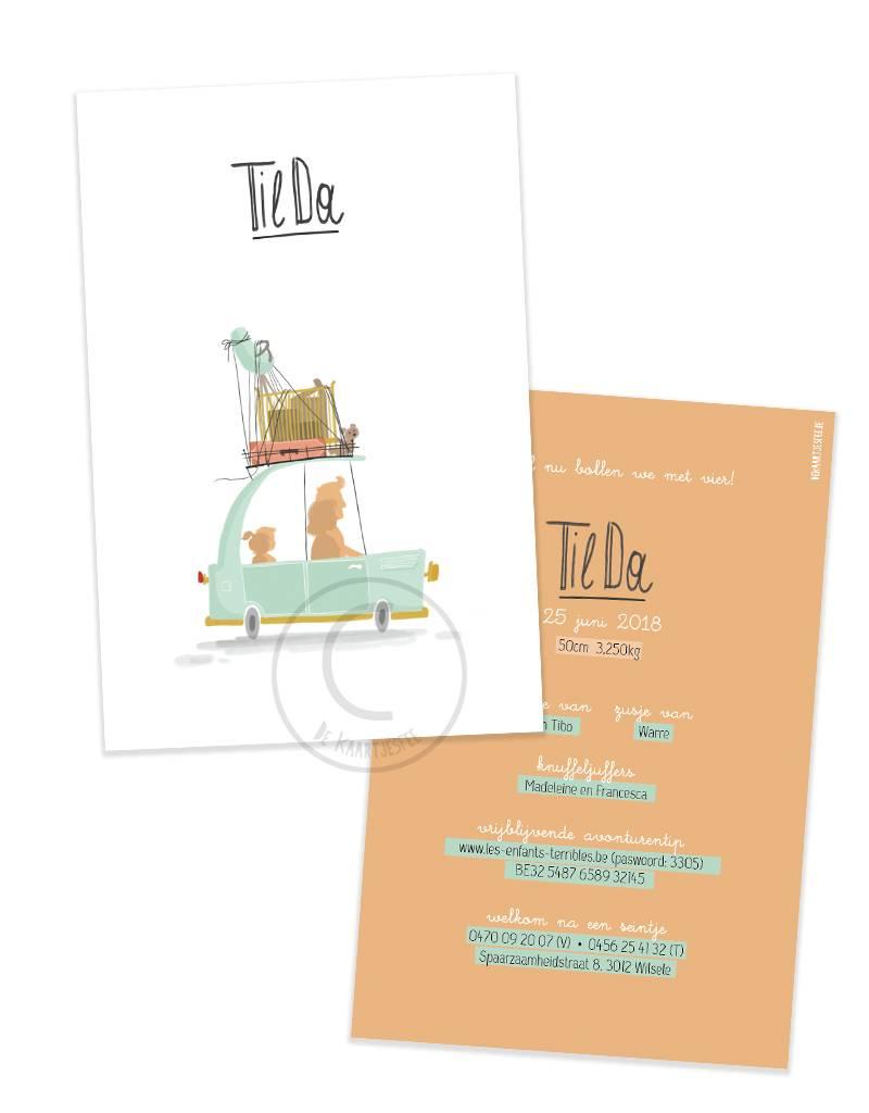 Geboortekaartje Tilda