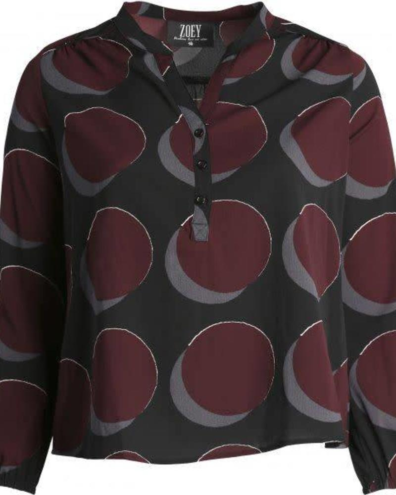 Zoey blouse berry red