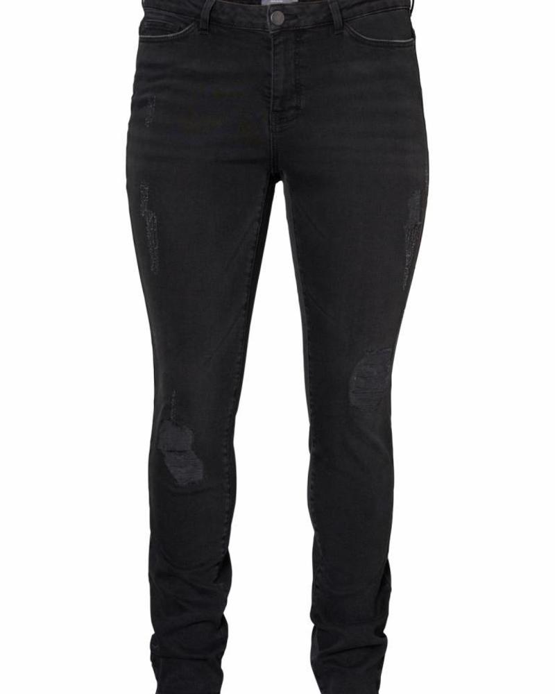 Junarose five black destroyed jeans