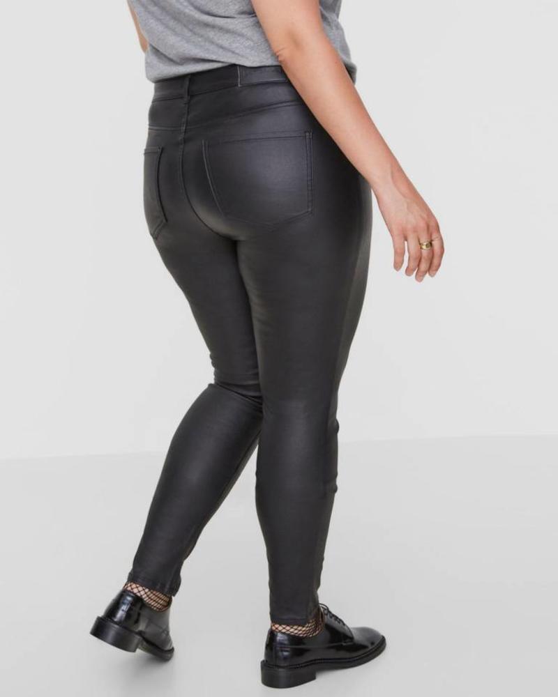 Junarose five black coated jeans