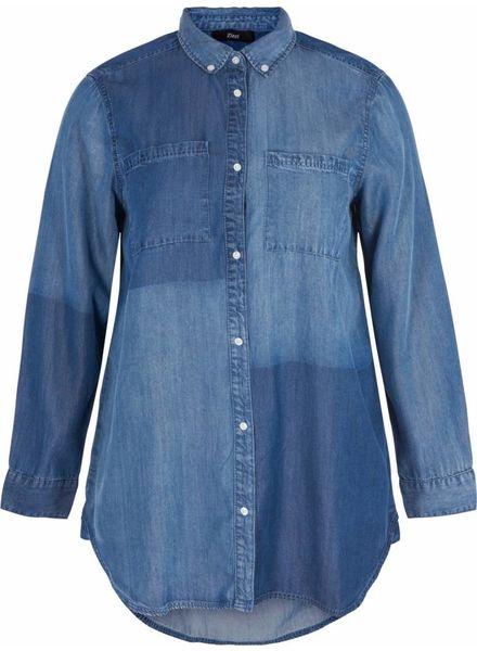 Zizzi denim worker blouse