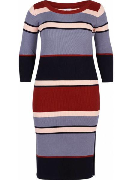 Zizzi Knitted dress stripe Paige