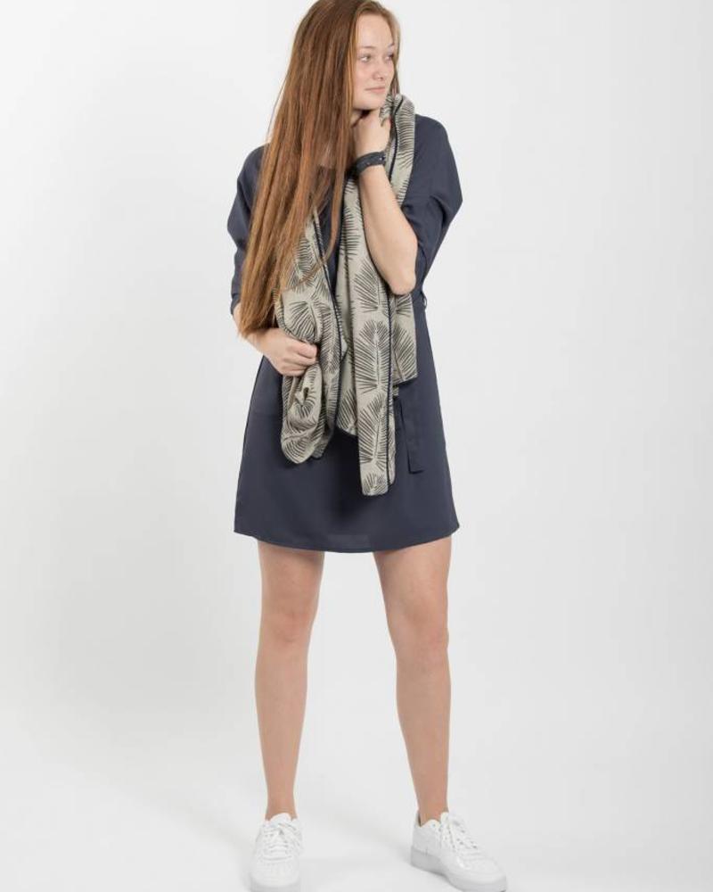 Zusss nachtblauw sjiek jurkje met ceintuur