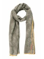 Zusss sjaal met blad leemgroen Zusss