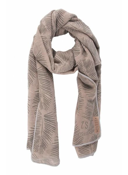 Zusss sjaal met blad poederroze