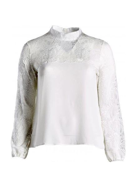 Zoey blouse offwhite/lace