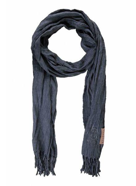 Zusss nonchalante sjaal met franje nachtblauw