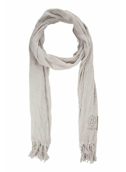 Zusss nonchalante sjaal met franjes krijt