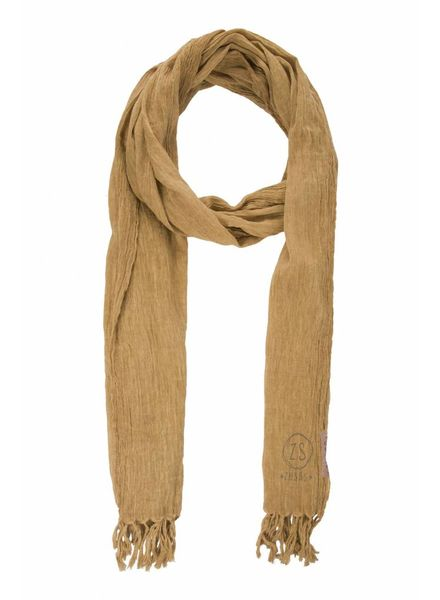 Zusss nonchalante sjaal met franjes oker